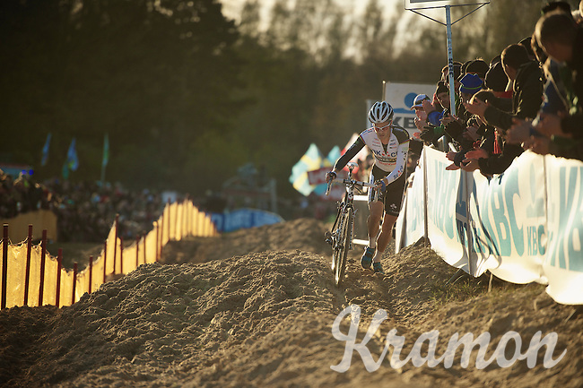 sandking Niels Albert (BEL) on his way to the win in the last lap<br /> <br /> Vlaamse Duinencross Koksijde 2013