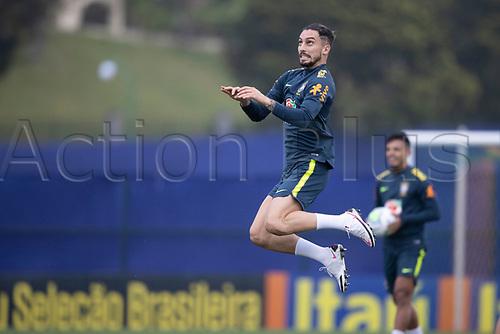 11th November 2020; Granja Comary, Teresopolis, Rio de Janeiro, Brazil; Qatar 2022 qualifiers; Alex Telles of Brazil during training session in Granja Comary