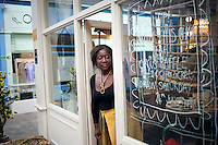 UK. London. 17th July 2010.Binki Taylor at her shop Circus..©Andrew Testa for the New York Times