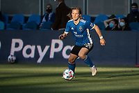 SAN JOSE, CA - MAY 22: Florian Jungwirth #23 of the San Jose Earthquakes moves the ball during a game between San Jose Earthquakes and Sporting Kansas City at PayPal Park on May 22, 2021 in San Jose, California.