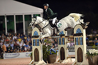 WELLINGTION, FL - FEBRUARY 25: Richie Moloney at the SATURDAY NIGHT LIGHTS: $380,000 Suncast Grand Prix CSI 5. The Winter Equestrian Festival (WEF) is the largest, longest running hunter/jumper equestrian event in the world held at the Palm Beach International Equestrian Center on February 25, 2017  in Wellington, Florida.<br /> <br /> People:  Richie Moloney