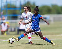 Bradenton, FL - Sunday, June 12, 2018: Dougenie Joseph prior to a U-17 Women's Championship 3rd place match between Canada and Haiti at IMG Academy. Canada defeated Haiti 2-1.