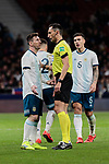 Argentina's Leo Messi have words with the referee during International Adidas Cup match between Argentina and Venezuela at Wanda Metropolitano Stadium in Madrid, Spain. March 22, 2019. (ALTERPHOTOS/A. Perez Meca)