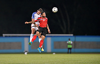 Couva, Trinidad & Tobago - Tuesday Oct. 10, 2017: Omar Gonzalez, Shahdon Winchester during a 2018 FIFA World Cup Qualifier between the men's national teams of the United States (USA) and Trinidad & Tobago (TRI) at Ato Boldon Stadium.