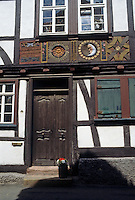 Butzbach: Carved signage. Photo '87.