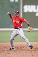 Boston Red Sox Stanley Espinal (15) during an Instructional League game against the Minnesota Twins on September 23, 2016 at JetBlue Park at Fenway South in Fort Myers, Florida.  (Mike Janes/Four Seam Images)