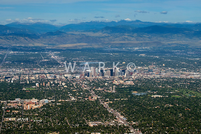 Denver, Colorado. Looking west. Aug 21, 2014.  812962