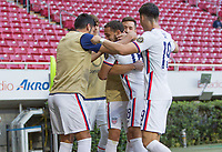 ZAPOPAN, MEXICO - MARCH 21: The United States celebrates during a game between Dominican Republic and USMNT U-23 at Estadio Akron on March 21, 2021 in Zapopan, Mexico.