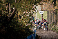 Race start up the infamous Koppenberg.<br /> <br /> Koppenbergcross 2020 (BEL)<br /> men's race<br /> <br /> ©kramon