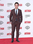 """Paul Rudd attends The Premiere Of Marvel's """"Ant-Man"""" held at The Dolby Theatre  in Hollywood, California on June 29,2015                                                                               © 2015 Hollywood Press Agency"""