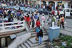Crowd at Thimpu market. Arindam Mukherjee..