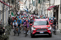 peloton rolling out of Camaiore <br /> <br /> Stage 2 from Camaiore to Chiusdino (202km)<br /> <br /> 56th Tirreno-Adriatico 2021 (2.UWT) <br /> <br /> ©kramon