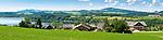 Oesterreich, Salzburger Land, Flachgau, der Wallersee bei Neumarkt am Wallersee, Ortsteil Matzing | Austria, Salzburger Land, region Flachgau, Waller Lake near Neumarkt am Wallersee, district Matzing