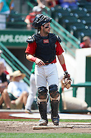 Fort Wayne TinCaps catcher Austin Hedges #24 during a Midwest League game against the Dayton Dragons at Parkview Field on August 19, 2012 in Fort Wayne, Indiana.  Dayton defeated Fort Wayne 5-1.  (Mike Janes/Four Seam Images)