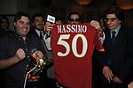 MASSIMO MARINO RICEVE LA MAGLIA DELL ROMA DA LUCIANO NOBILI<br /> CINQUANTESIMO COMPLEANNO DI MASSIMO MARINO<br /> MOMO REPUBLIC ROMA 2010