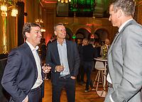 Rotterdam, Netherlands, 09 Februari, 2018, City Hall, Official Draw,   Ltr: Dimitri Bonthuis, Jan Siemerink and Richard Krajicek<br /> Photo: Tennisimages/Henk Koster