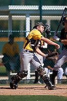 Pittsburgh Pirates catcher Arden Pabst (89) during an Instructional League Intrasquad Black & Gold game on September 20, 2016 at Pirate City in Bradenton, Florida.  (Mike Janes/Four Seam Images)