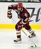 9 January 2009: Boston College Eagles' forward Brian Gibbons, a Sophomore from Braintree, MA, in action during the first game of a weekend series against the University of Vermont Catamounts at Gutterson Fieldhouse in Burlington, Vermont. The Catamounts scored with one second remaining in regulation time to earn a 3-3 tie with the visiting Eagles. Mandatory Photo Credit: Ed Wolfstein Photo