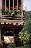 Europe/France/Midi-Pyrénées/09/Ariège/Couserans/Engomer: Fromagerie du moulin - Fromage de Bethmale