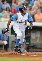 July 7, 2008: Outfielder Willie Cabrera (23) of the Myrtle Beach Pelicans, Class A affiliate of the Atlanta Braves, in a game against the Wilmington Blue Rocks at BB&T Coastal Field in Myrtle Beach, S.C. Photo by:  Tom Priddy/Four Seam Image