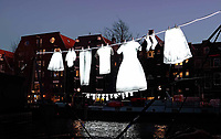 Nederland - Amsterdam- 2019  . Amsterdam Light Festival. Neighborhood van Sergei Kim.    Foto Berlinda van Dam