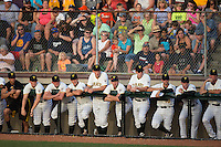 A crowd of 2,618 fans were on hand to watch the Bristol Pirates take on the Burlington Royals in Appalachian League action at Boyce Cox Field on July 10, 2015 in Bristol, Virginia.  The Pirates defeated the Royals 9-4. (Brian Westerholt/Four Seam Images)