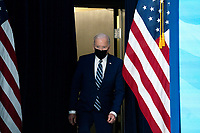 U.S. President Joe Biden arrives to deliver remarks on the state of the Covid-19 vaccine in the South Court Auditorium of the White House in Washington, D.C., U.S., on Monday, March 29, 2021. <br /> CAP/MPI/RS<br /> ©RS/MPI/Capital Pictures