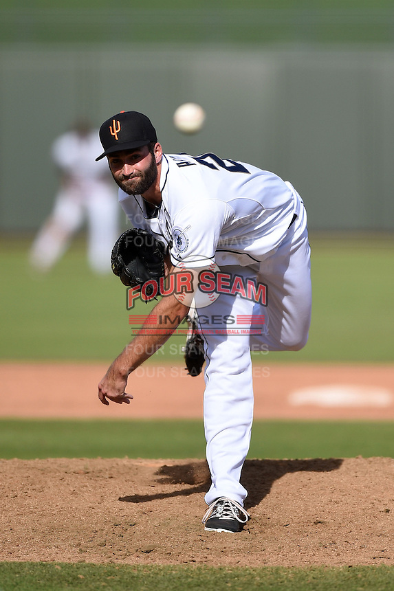 Surprise Saguaros pitcher Brandon Alger (26) during an Arizona Fall League game against the Scottsdale Scorpions on October 16, 2014 at Surprise Stadium in Surprise, Arizona.  Surprise defeated Scottsdale 7-3.  (Mike Janes/Four Seam Images)