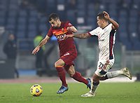 Football, Serie A: AS Roma - Cagliari calcio, Olympic stadium, Rome, December 23, 2020. <br /> Roma's Henrikh Mkhitaryan (l) in action with Cagliari's Christan Oliva (r) during the Italian Serie A football match between Roma and Cagliari at Rome's Olympic stadium, on December 23, 2020.  <br /> UPDATE IMAGES PRESS/Isabella Bonotto