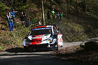 24th April 2021; Zagreb, Croatia; WRC Rally of Croatia, stages 9-16; Elfyn Evans -Toyota Yaris WRC