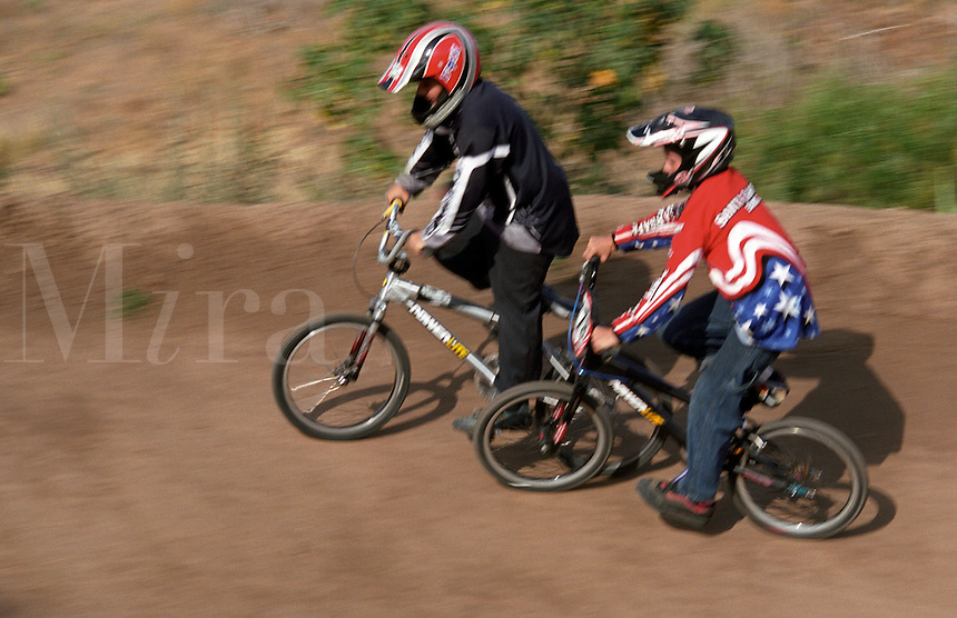 BMX bicycle racing at Elings Park Santa Barbara California