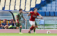 Roma's Nicolo' Zaniolo, right, is challenged by Cagliari's Nahitan Nandez during the Serie A soccer match between Roma and Cagliari at Rome's Olympic Stadium, October 6, 2019. UPDATE IMAGES PRESS/ Riccardo De Luca