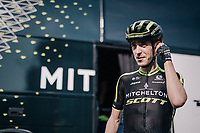 Mikel Nieve (ESP/Michelton-Scott) in his very first appearance in his Michelton-Scott kit, after a delayed season start (due to injury).<br /> <br /> 104th Liège - Bastogne - Liège 2018 (1.UWT)<br /> 1 Day Race: Liège - Ans (258km)
