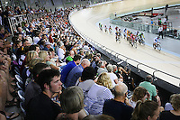 General view at the BikeNZ Elite & U19 Track National Championships, Avantidrome, Home of Cycling, Cambridge, New Zealand, Friday, March 14, 2014. Credit: Dianne Manson