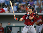 Sacramento River Aces' Joe Panik hits against the Reno Aces at Greater Nevada Field in Reno, Nev., on Tuesday, July 26, 2016.  <br />Photo by Cathleen Allison