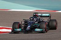 27th March 2021; Sakhir, Bahrain; F1 Grand Prix of Bahrain, Qualifying sessions;  44 HAMILTON Lewis (gbr), Mercedes AMG F1 GP W12 E Performance during Formula 1 Gulf Air Bahrain Grand Prix 2021 qualifying as he takes 2nd on pole