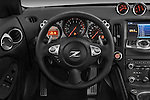 Steering wheel view of a 2009 Nissan 370 Z Touring Coupe