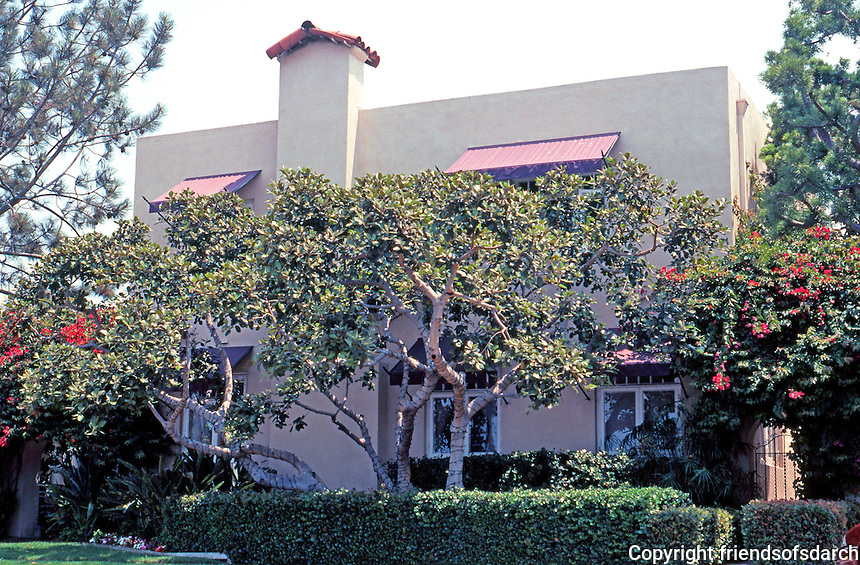 Irving Gill: George Kautz House, 1913. 7753 Draper, La Jolla. (Now a Bed & Breakfast) Photo 2000.
