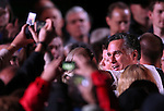 Republican presidential candidate, former Massachusetts Gov. Mitt Romney greets the crowd following a rally in Reno, Nev., on Wednesday, Oct. 24, 2012. (AP Photo/Cathleen Allison)