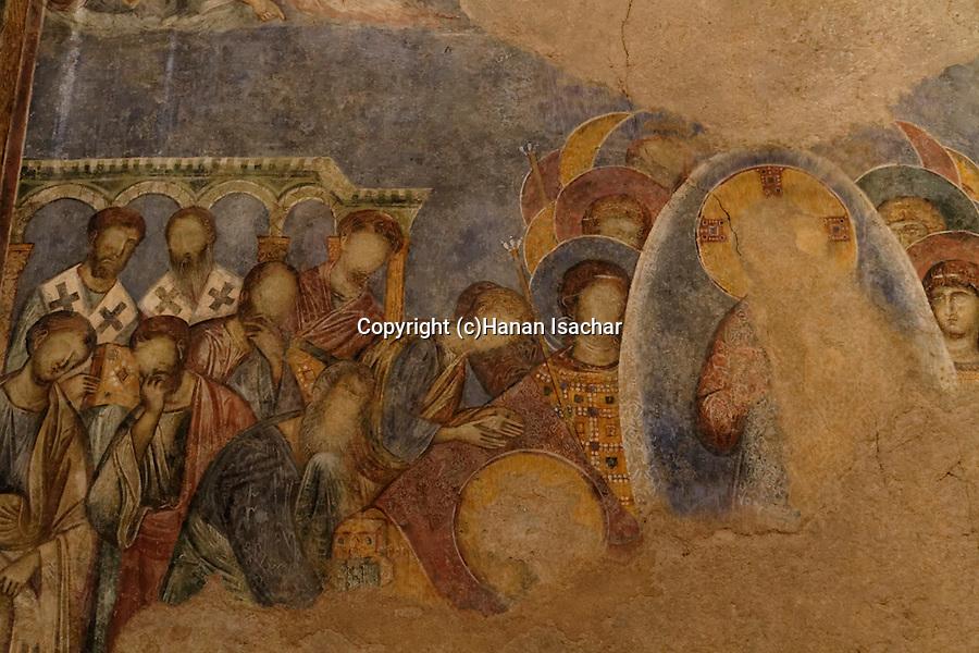 Israel, frescos at the Benedictine Crusader Church in Abu Gosh