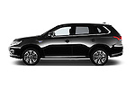 Car Driver side profile view of a 2016 Mitsubishi Outlander Phev PHEV 5 Door Suv Side View