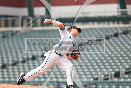 Landon Gartman (15) of ENTERPRISE High School in Bogue Chitto, Mississippi during the Under Armour All-American Pre-Season Tournament presented by Baseball Factory on January 14, 2017 at Sloan Park in Mesa, Arizona.  (Freek BouwMike Janes Photography)