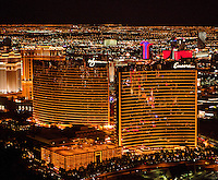 aerial photograph night time Encore, Las Vegas, Clark County, Nevada