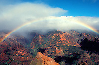 Rainbow gracing Waimea Canyon on the Island of Kauai
