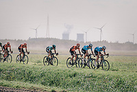 """Tim Merlier (BEL/Veranda's Willems Crelan), Wout Van Aert (BEL/Veranda's Willems-Crelan) & Coen Vermeltfoort (NED/Roompot Nederlandse loterij) chasing the race leaders<br /> <br /> Antwerp Port Epic 2018 (formerly """"Schaal Sels"""")<br /> One Day Race:  Antwerp > Antwerp (207 km; of which 32km are cobbles & 30km is gravel/off-road!)"""