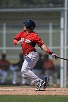 Boston Red Sox Michael Chavis (3) during a minor league spring training game against the Baltimore Orioles on March 18, 2015 at Buck O'Neil Complex in Sarasota, Florida.  (Mike Janes/Four Seam Images)