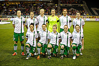 Ireland's starting 11. USWNT won 5-0 in a friendly against Ireland at JELD-WEN Field in Portland, Oregon on November 28, 2012.