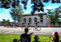 The peloton rides through Martinborough Square during stage three of the NZ Cycle Classic UCI Oceania Tour in Wairarapa, New Zealand on Tuesday, 24 January 2017. Photo: Dave Lintott / lintottphoto.co.nz
