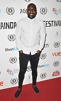"""Vauxhall Jermaine attends the """"My Hero"""" Raindance Film Festival UK film premiere, Vue Piccadilly cinema, Lower Regent Street, London, England, UK, on Friday 25 September 2015. <br /> CAP/CAN<br /> ©Can Nguyen/Capital Pictures"""