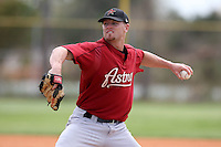 March 22, 2010:  Pitcher Michael Hacker of the Houston Astros organization during Spring Training at the Carl Barger Training Complex in Melbourne, FL.  Photo By Mike Janes/Four Seam Images
